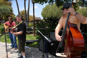 Band playing at Seaport Village's Busker Festival in San Diego