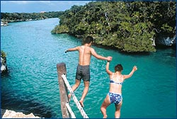 Enjoy the crystal clear waters of the Mexican Caribbean with Language Adventures.