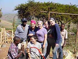 Volunteers at the Amizade project in Tanzania.