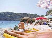 A pebbly nude beach in Spain - best nude beach in the world