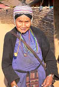 Akha tribe member in northern Thailand. photos by Terry Braverman.