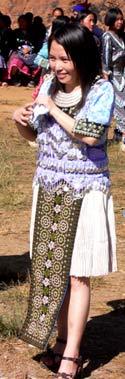 Hmong girl at a festival. photo: Terry Braverman.