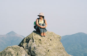 A member of the Hong Kong Trampers sits atop Tai Mo Shan, the island's highest peak. Photos by Antonio Graceffo