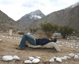 Lounging at the Incan observatory