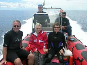 The members of the author's diving expedition