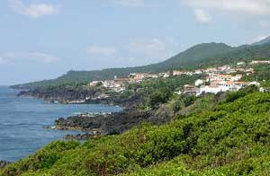 A coastal village in the Azores