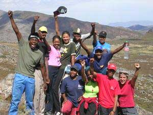 Educo students in South Africa during a Sustainable Travel vacation.