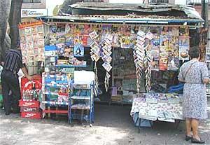 A kiosk in Cuernavaca