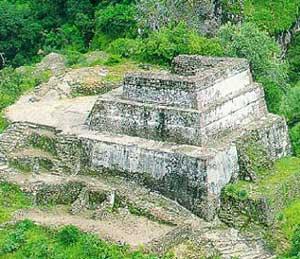 A Mayan pyramid at Tepoztlan
