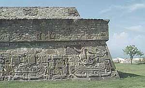 Mayan hieroglyphs at Xochialco