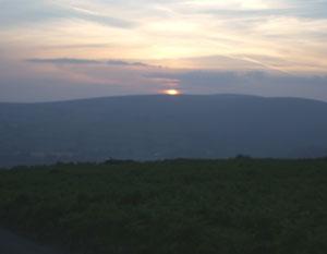 Sunset over Dartmoor