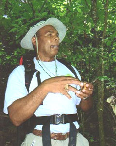 Amerindian Shaman, Cristo Adonis, explains the use of rainforest plants as natural remedies
