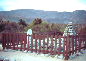 The Lady in White, name unknown, is buried in the tiny cemetery at Vallecito.