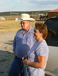 Steve and Alison Skelton, owners of the SK Ranch.