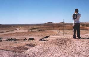 The sterile, dusty landscape of Coober Pedy. Photos by Lauda Siciliano-Rosen except as noted
