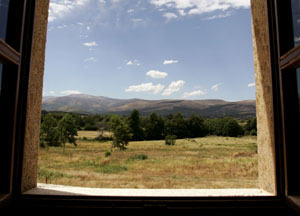 A view of the Gredos Mountains from the hotel