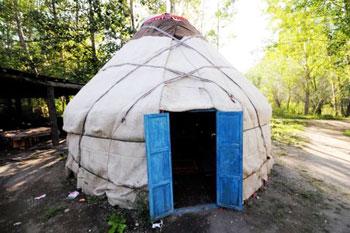 The mongol-style, Kazak drinking yurt (or ger)
