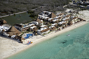 Aerial view of Desire Riviera Maya, near Cancun, Mexico. photos courtesy of the resort.