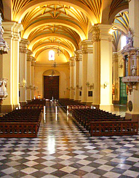 The Cathedral of Lima was built in 1535, and is an excellent example of colonial architecture.
