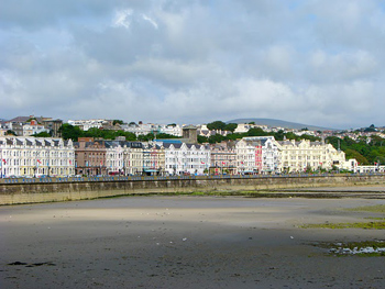 The seaside of Douglas, Isle of Man.