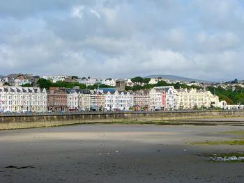 The seaside of Douglas, Isle of Man.
