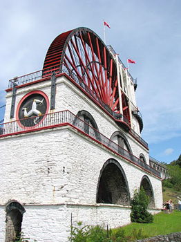 The Great Laxey Wheel is the most prominent feature of the lead mine where the author's great-great-grandfather, Robert Shimmin, worked in the 1850s.