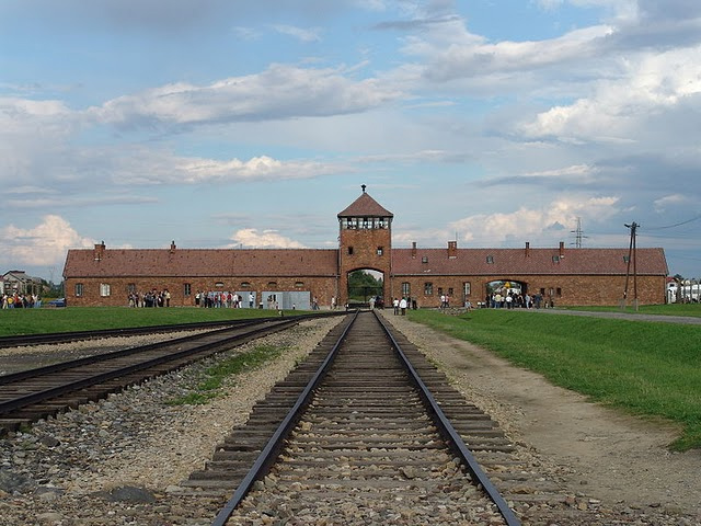 Auschwitz concentration camp museum in Poland.