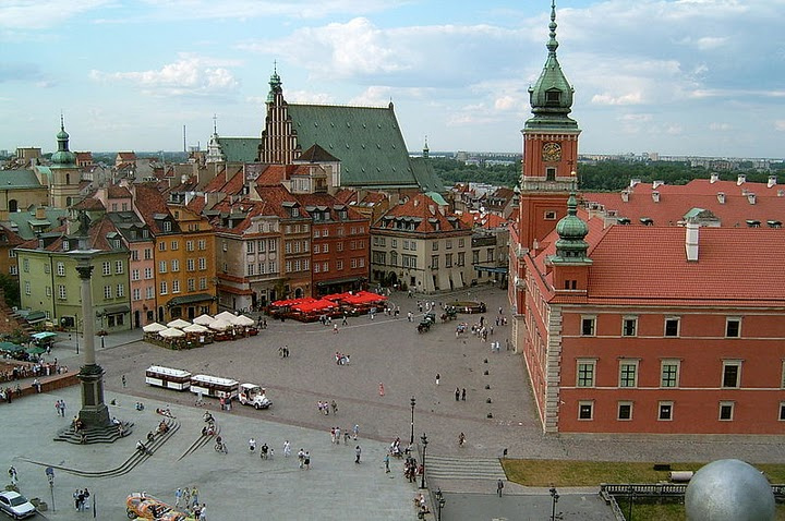Royal Castle Square, Warsaw Poland