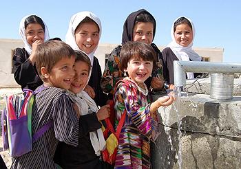 Children at the Baland Oba School