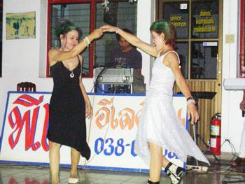 Thai dancers at the social center.