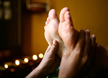 Ayurvedic foot massage in Sri Lanka