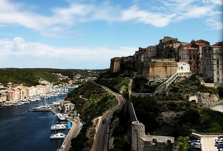 The town of Bonifacio, Corsica.
