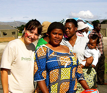 A volunteer studies Human Rights in South Africa.