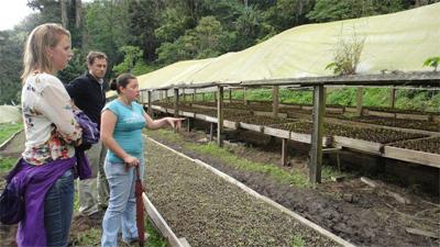 Agricultural orienation at La Bastilla, an ecofarm in Nicaragua. photos: TAMF.