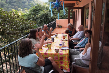 Breakfasts are a special part of the Casa experience. Every day it's different, all cooked by the Casa chef, Ruby, a Huichol Indian.