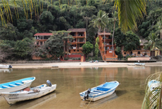 View of the Casa across the Rio Horcones.