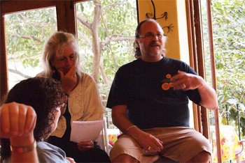 Monica Levine and Bob Masla, our hosts during our visit to a dance and painting workshop week at the Casa in Mexico.