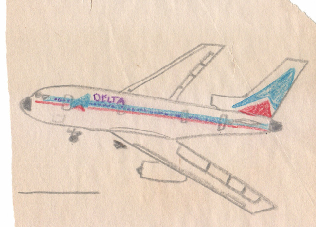 Smith drawing Delta L-1011 1975
