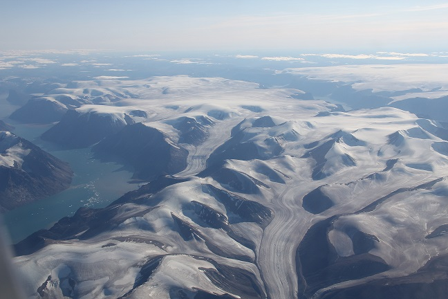 Enjoy an aerial view of Baffin Island.  Scott Bradley photo
