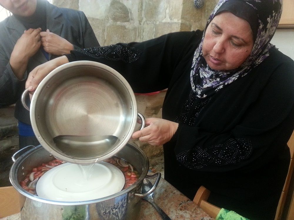 Cooking a meal with Breaking Bread Journeys
