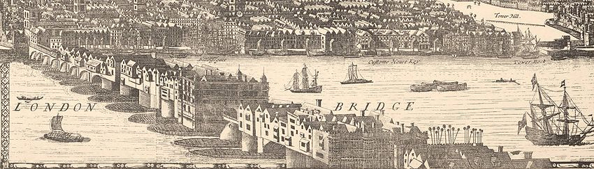 An early 1600s image of the London Bridge