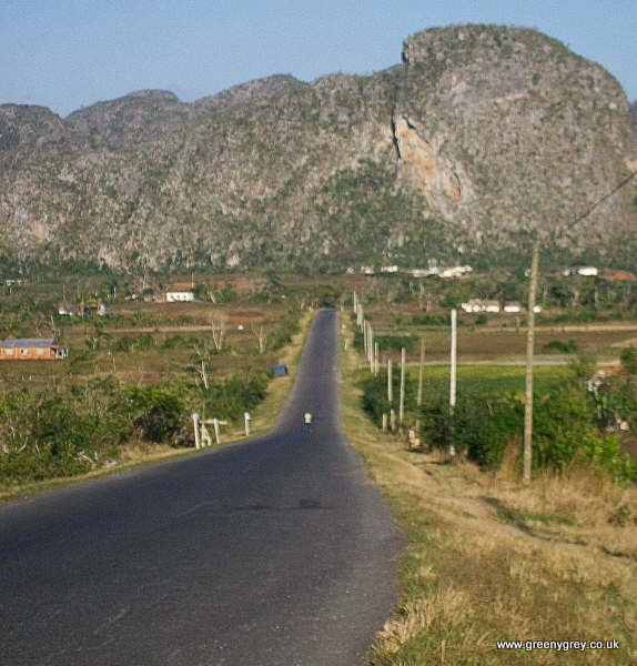 The long road in rural Vinales, Cuba.