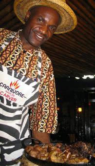 Carnivore restaurant in Nairobi. photos by Susan McKee.