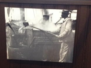 Boiling the blubber. New Bedford Whaling Museum photo