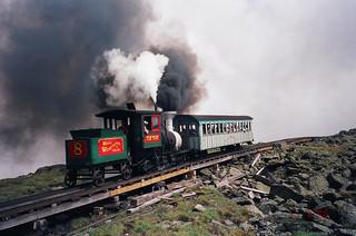 The Cog Railway at Mount Washington