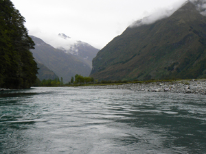 The beautiful Dart River near Queenstown.