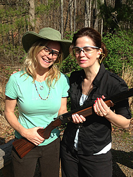 Cathie armed for the shoot at Primland in Virginia.