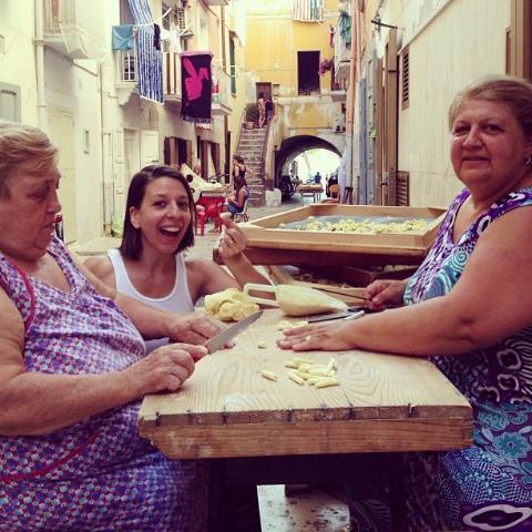 Mickela visiting her Italian roots.  Mickela Mallozzi photo.