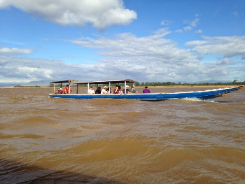 The thrill of boating on the Mekong river. Duane Nichols photo.