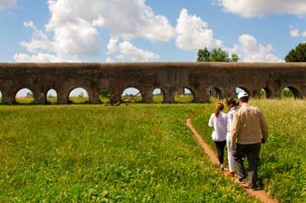 Walking near the Roman Aquaducts